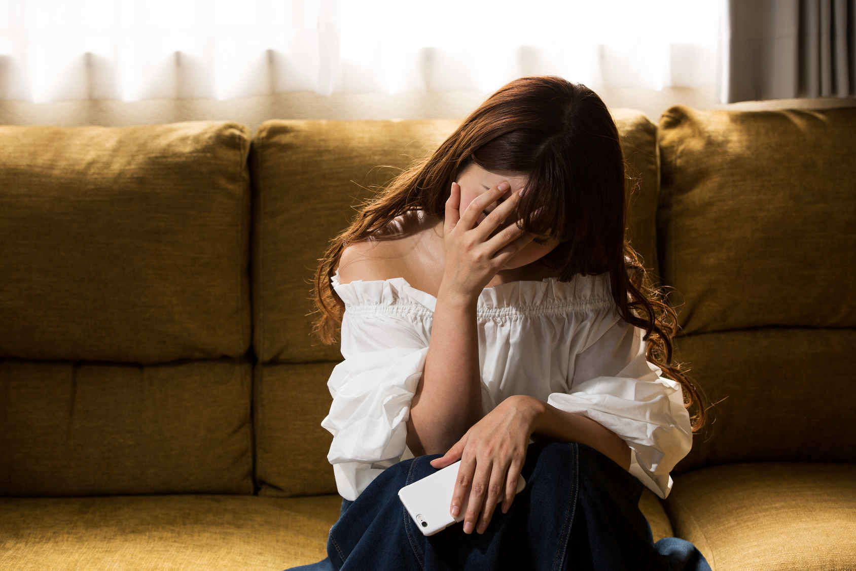 憂鬱の女性