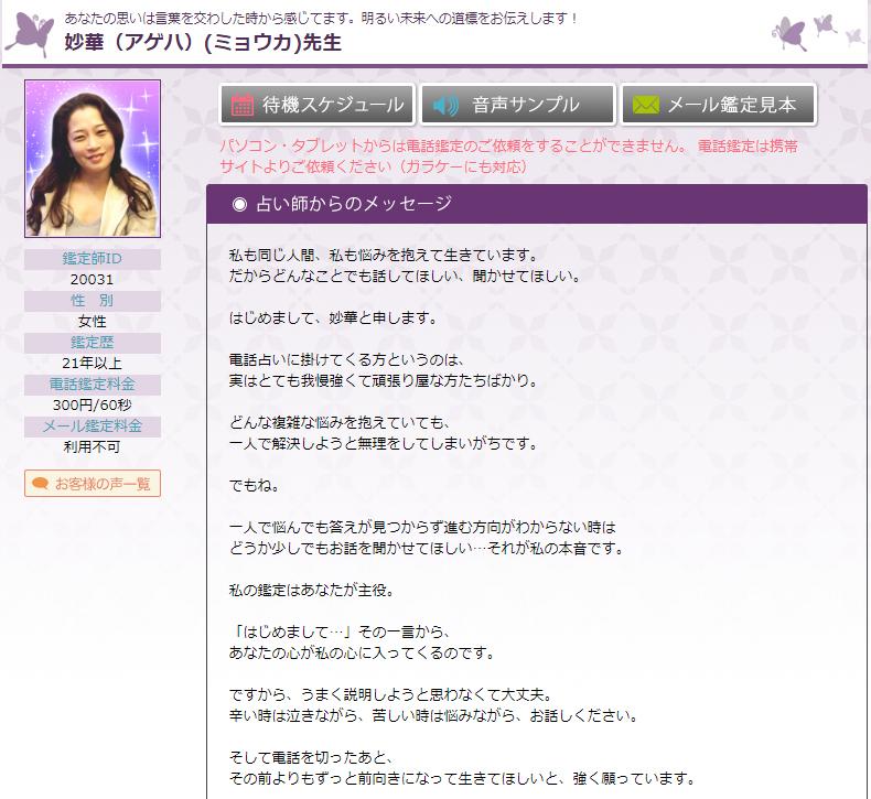 フィール妙華先生PC画面