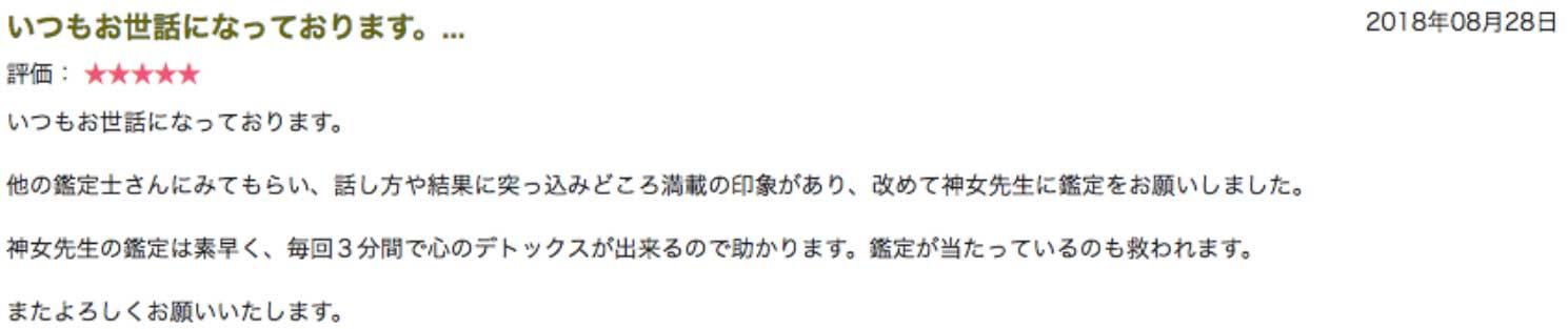 電話占いピュアリ神女(かみんちゅ)先生に家庭内暴力を繰り返す息子の気持ちを聞いてみた3